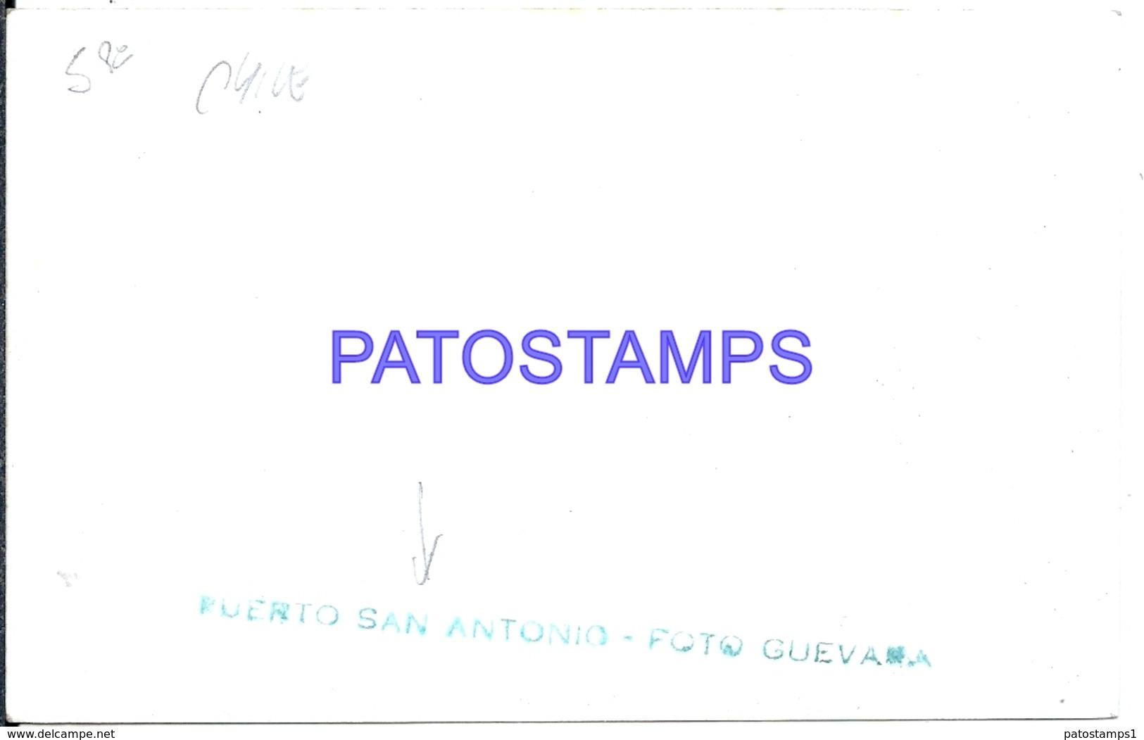 126784 CHILE PUERTO SAN ANTONIO VISTA PARCIAL PHOTO NO POSTAL POSTCARD - Chile