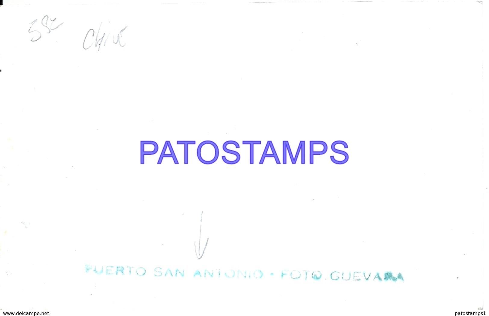 126785 CHILE PUERTO SAN ANTONIO VISTA PARCIAL PHOTO NO POSTAL POSTCARD - Chile