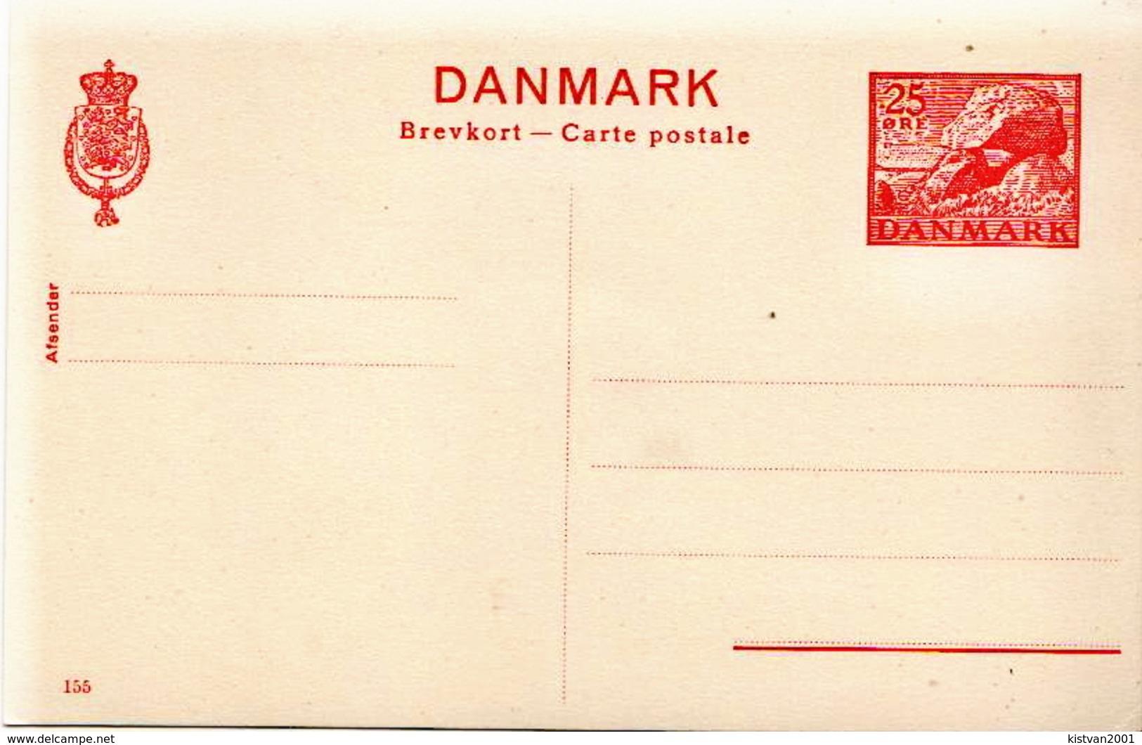 Postal History Cover: Denmark Mint Postal Stationery Card Nr 155, 25 öre - Postwaardestukken
