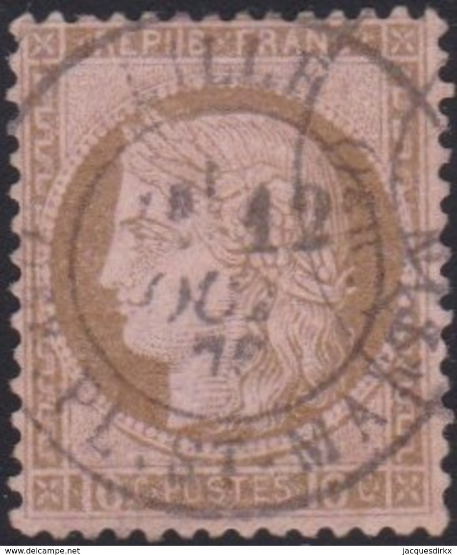 France   .     Yvert    .    54       .      O      .       Oblitéré   .   /   .   Cancelled - 1871-1875 Ceres