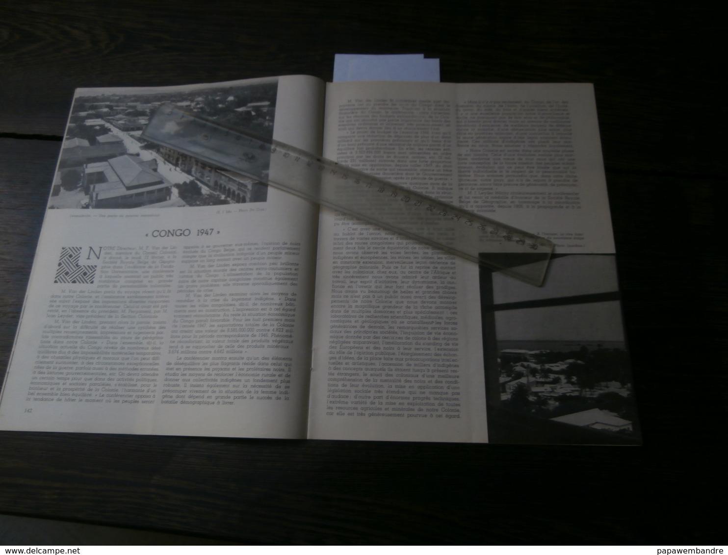 La Revue Coloniale Belge 58 (01/03/1948) : Congo, Shinkakasa, Banzyville, - Livres, BD, Revues