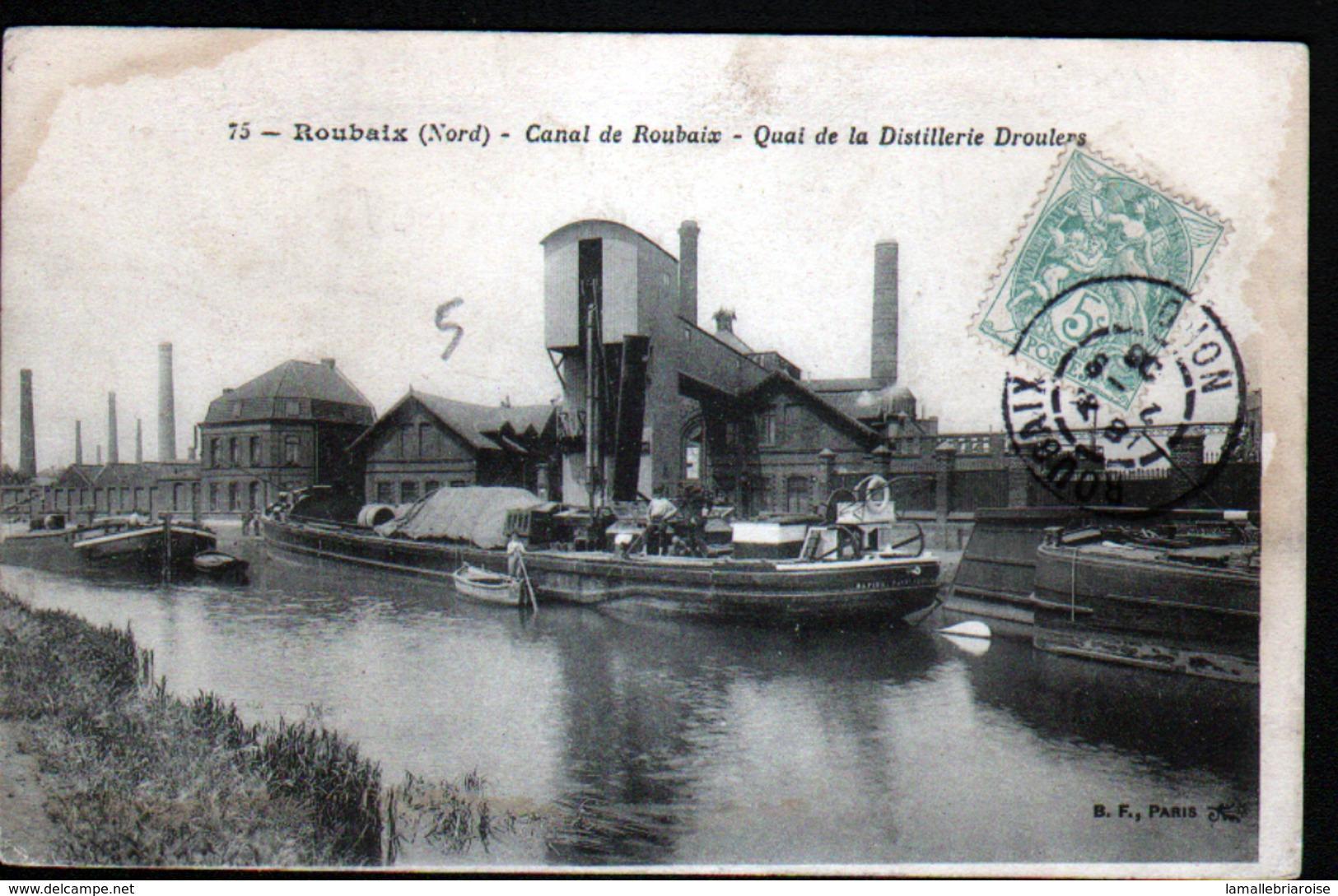 59, Canal De Roubaix, Quai De La Distillerie Droulers ( Battellerie) - Roubaix