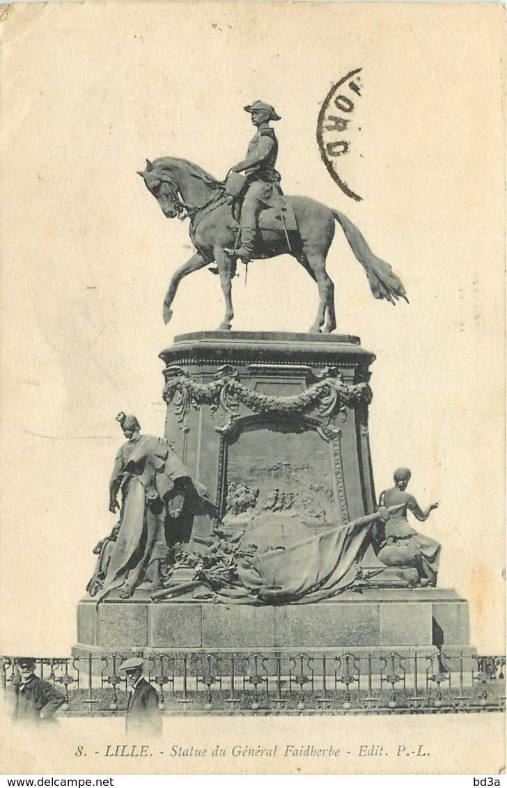 59 - LILLE - STATUE DU GENERAL FAIDHERBE - Lille
