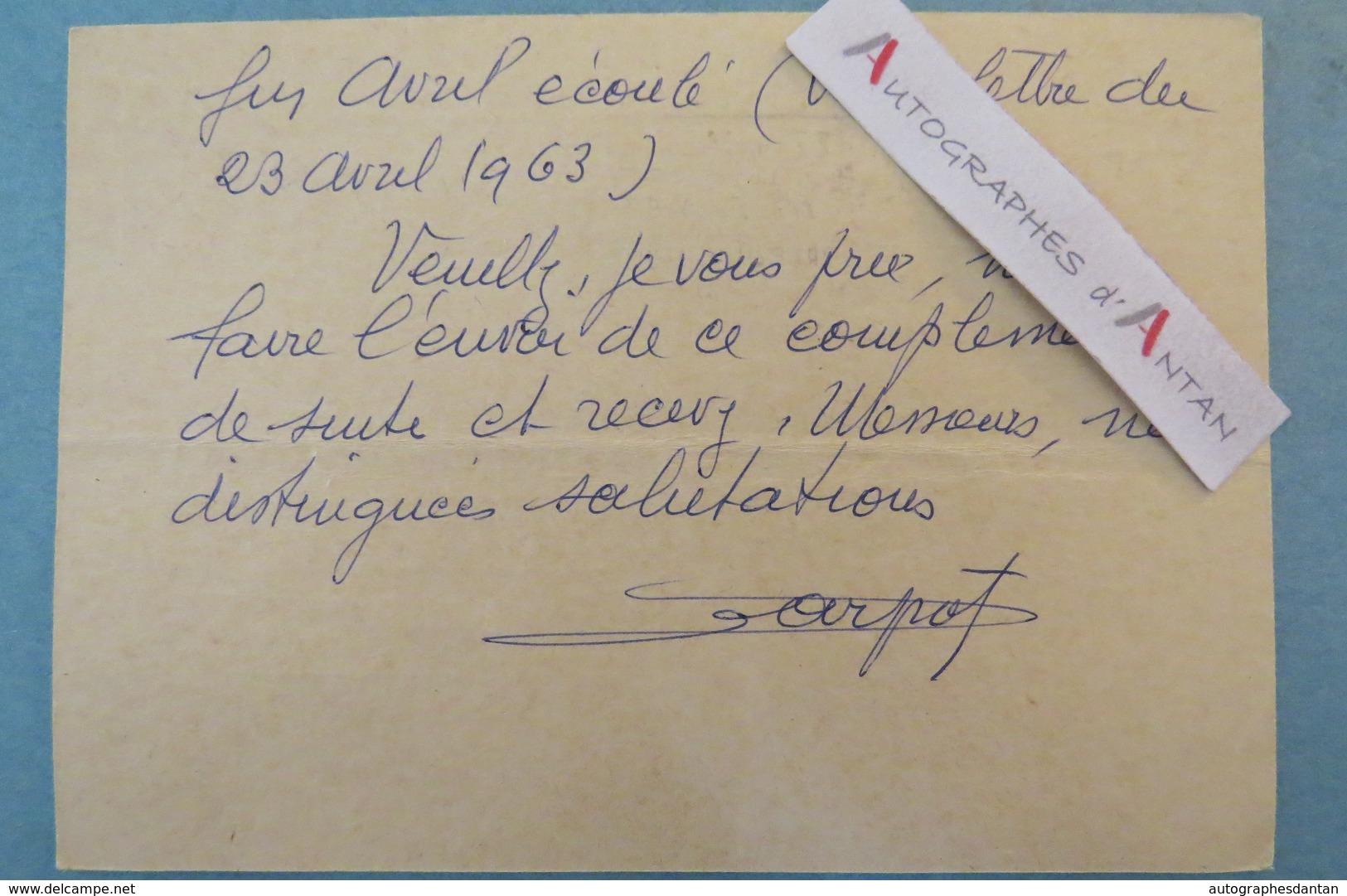 Entier Postal Saint-Etienne > Paris 1963 - CARPOT - Timbre N°1233 Cachet Aéroport Carte Apprenez Un Métier Du Bâtiment - Non Classés
