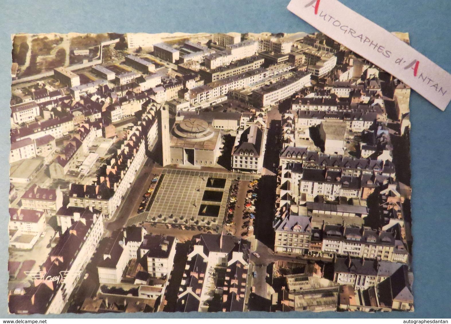 CPSM LORIENT Vue Générale Eglise Notre Dame Des Victoires - Rare - Morbihan édition Gaby - Bromocolor France Vue Du Ciel - Lorient
