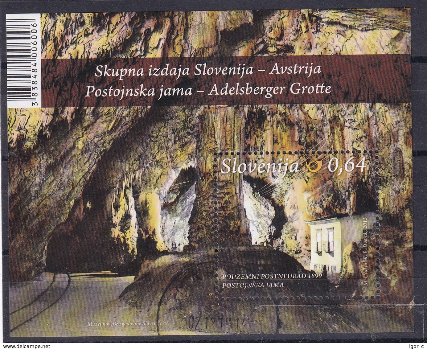 Slovenia Slovenie Slowenien 2013 Used CTO: Speleology; Postojna Cave Grotte; Underground Post Office - Holidays & Tourism
