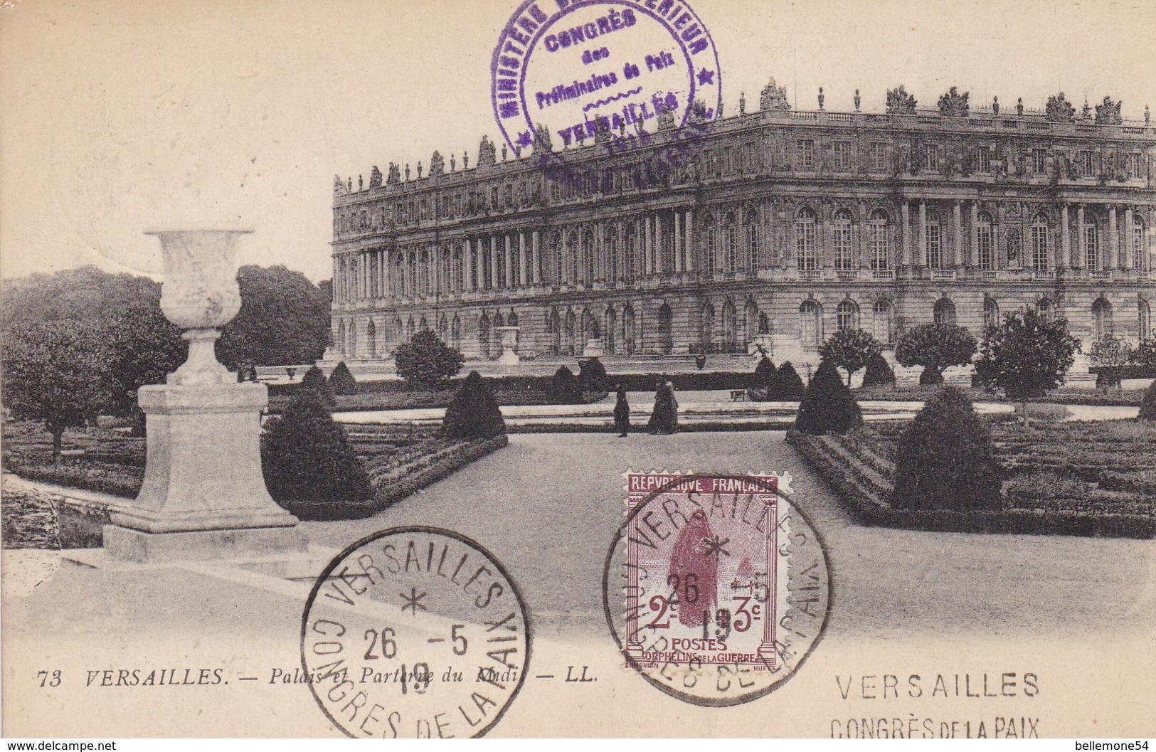 Entier Carte Postale - Versailles Congrès De La Paix (voir Scan Recto-verso) - Postal Stamped Stationery