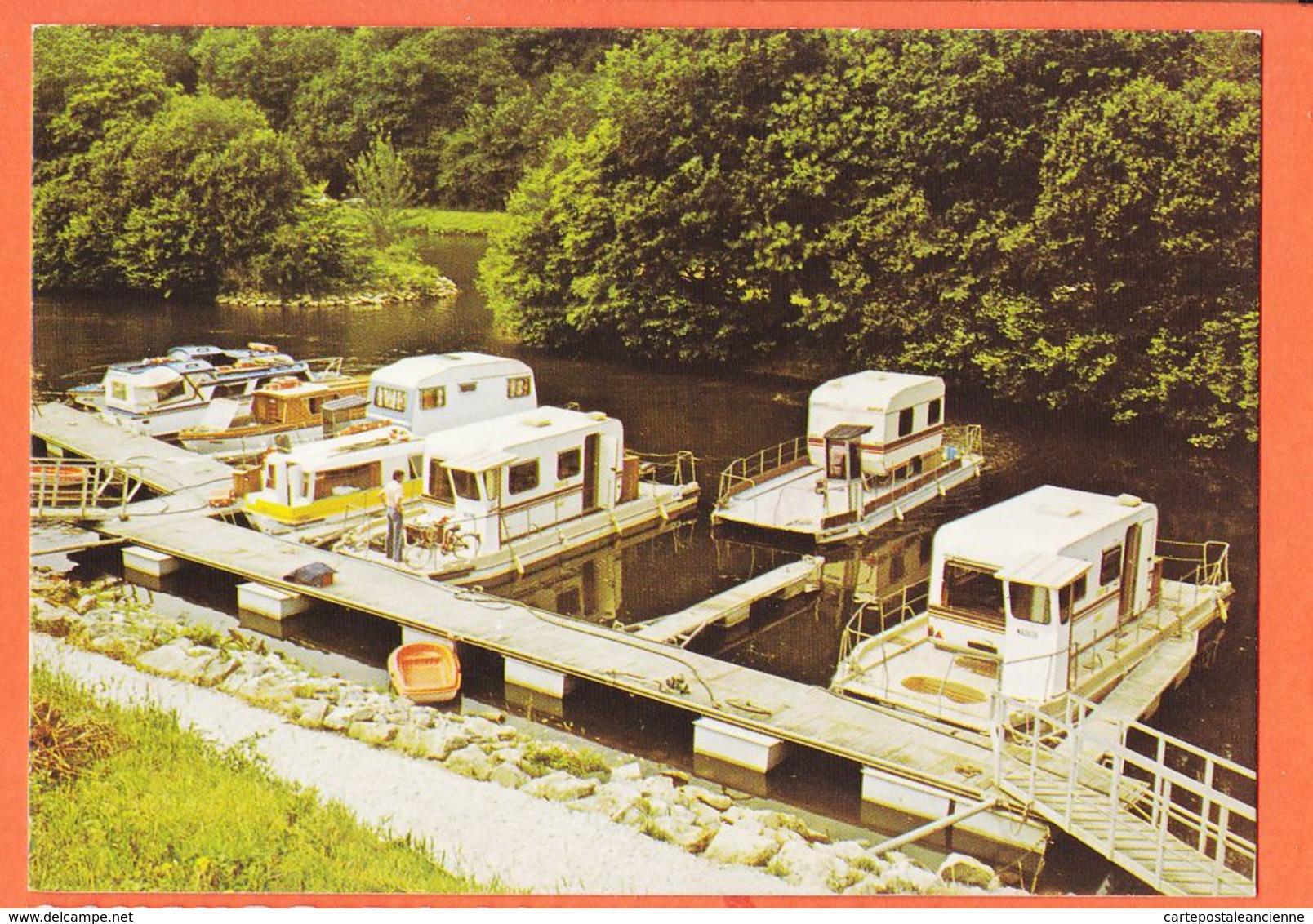 X29147 CHATEAUNEUF-DU-FAOU 29-Morbihan Le Portsur Le Canal De NANTES à BREST Ponton Bac Caravanes 1975s JOS LE DOARE - Châteauneuf-du-Faou