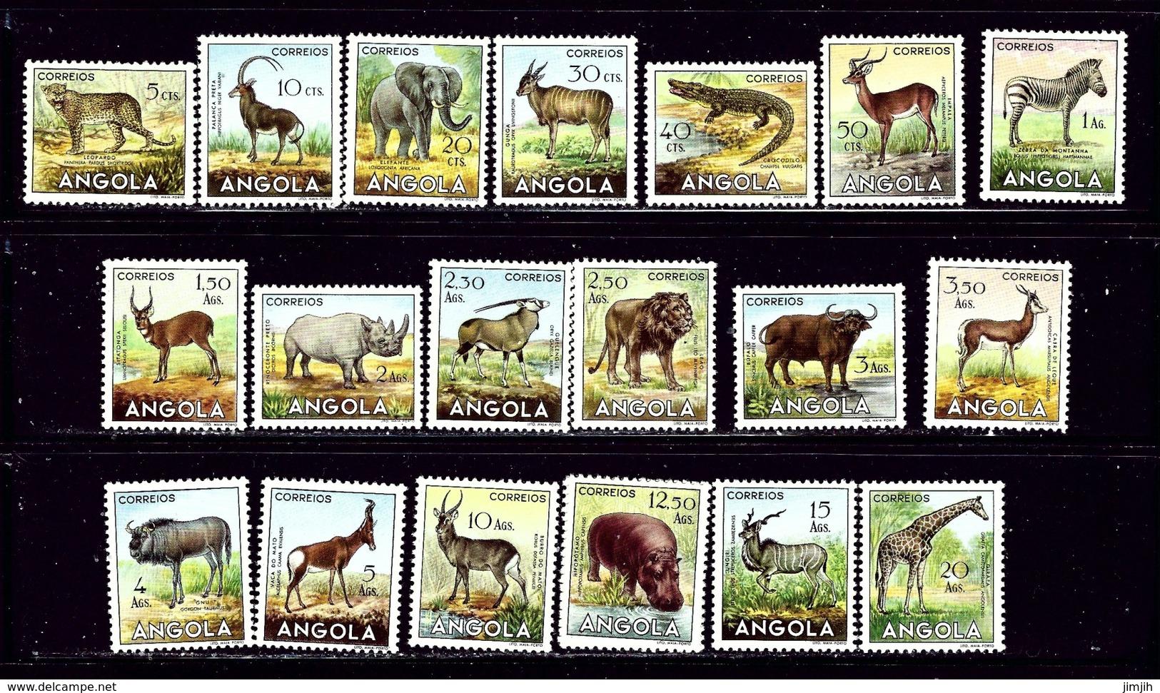 Angola 362-81 MH 1953 Animals - Angola