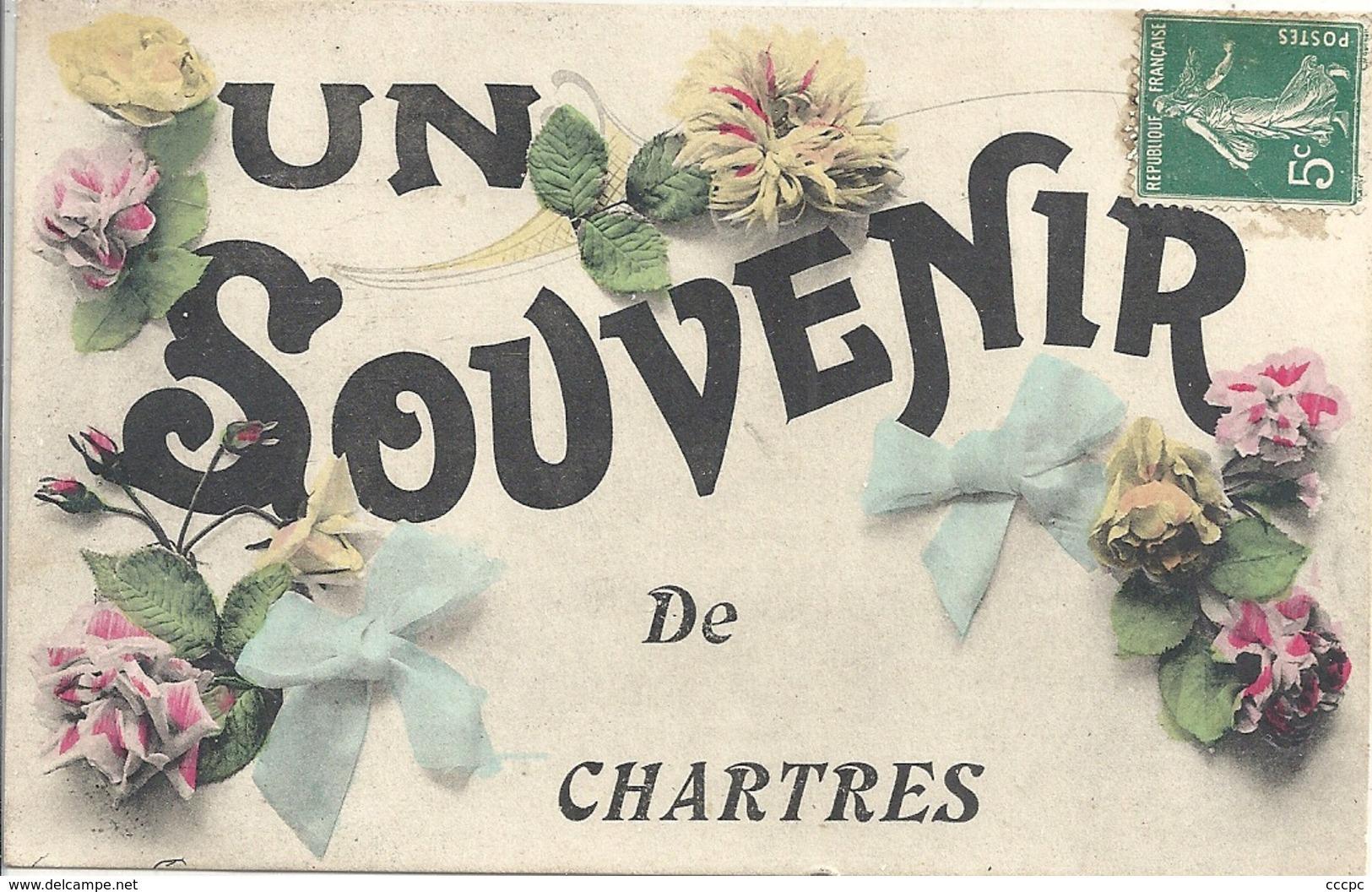 CPA Un Souvenir De Chartres - Chartres