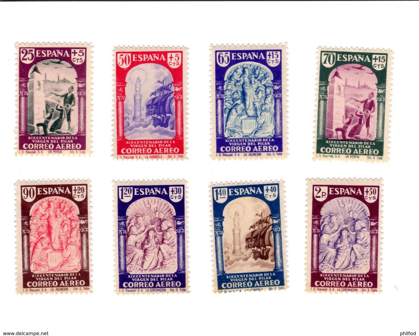 Espagne - 1940 - Virgen Del Pilar - CORREO AEREO - Série - 1931-50 Unused Stamps