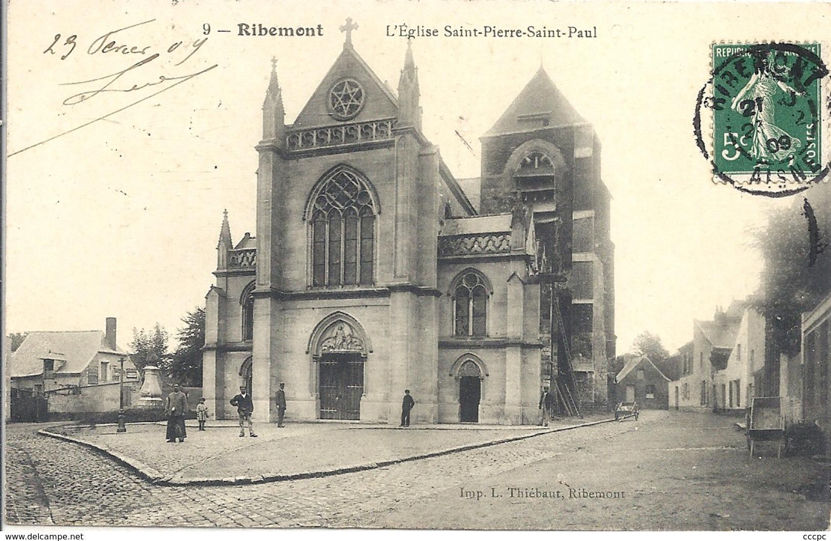 CPA Ribemont L'Eglise Saint-Pierre Et Saint-Paul - Francia