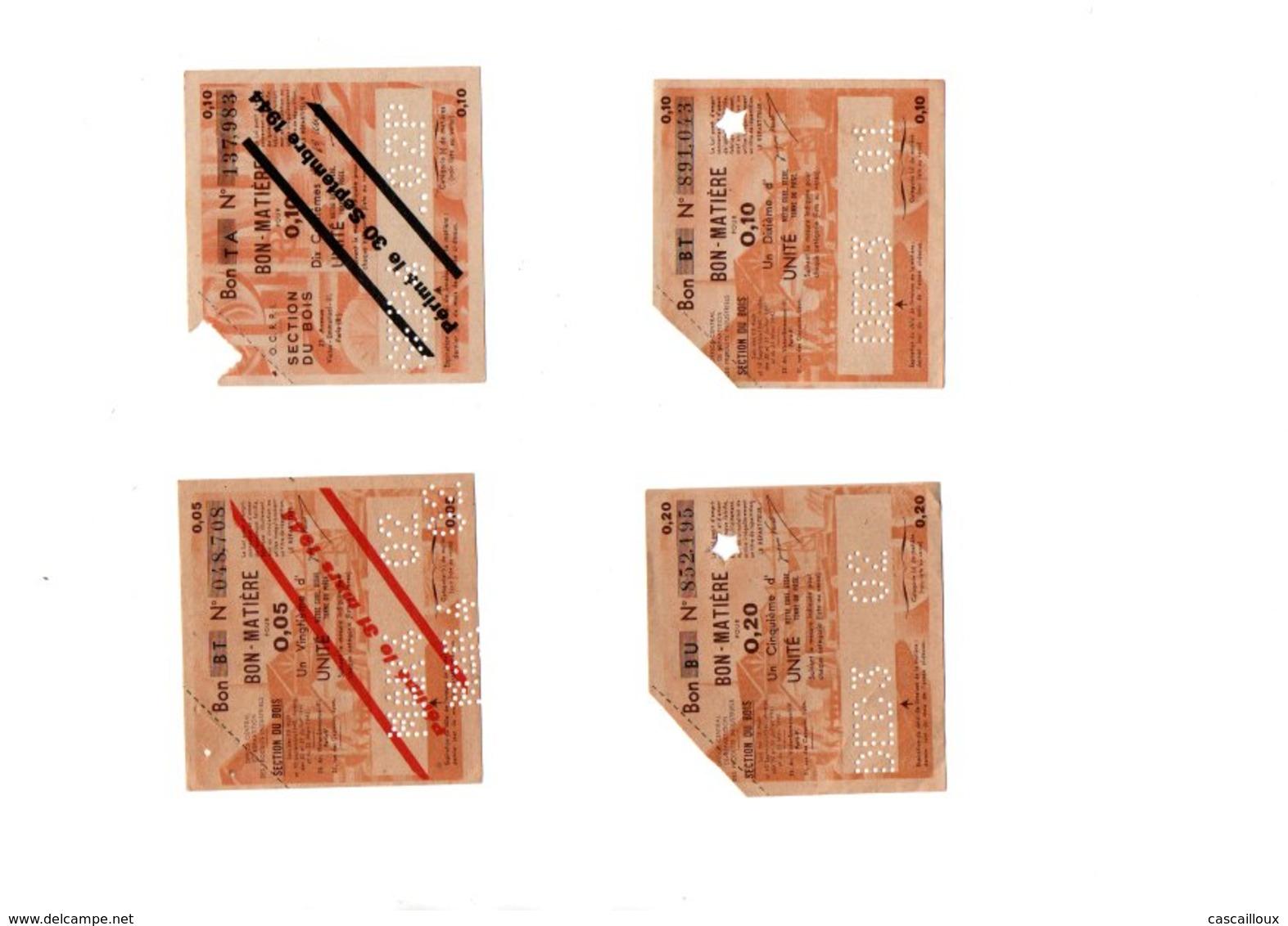 Tickets De Rationnements - Historische Documenten