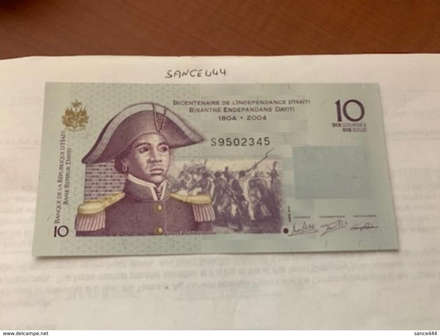 Haiti 10 Gourdes Banknote 2016 - Haiti