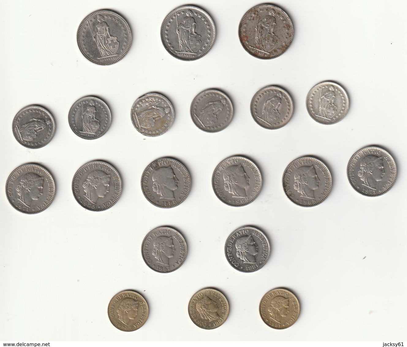 Monnaies Suisse ( Lots 20 Monnaies ) - Suisse
