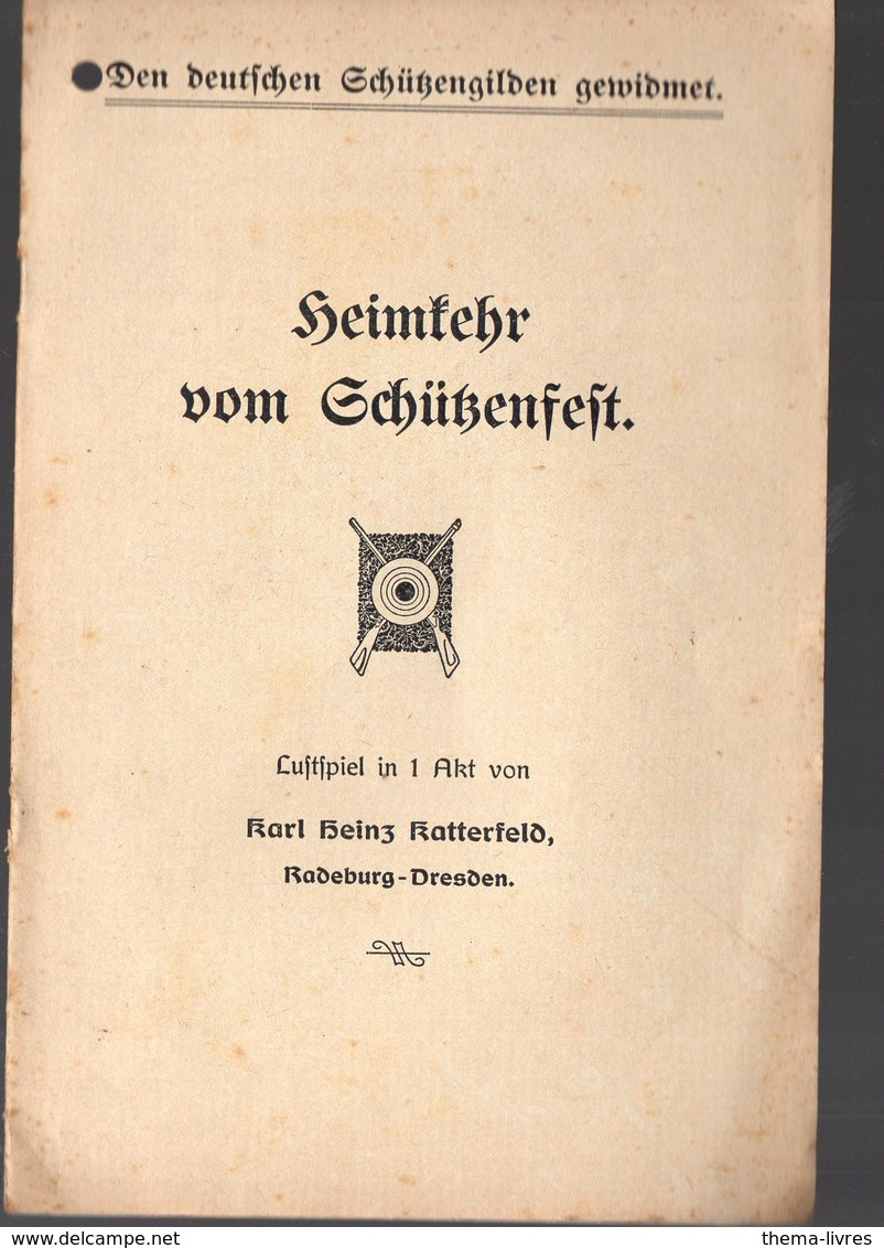 (Allemagne) Plaquette  Petite Pièce De Théâtre HEINFEHR VOM SCHüSENFEFT (PPP11488) - Theater & Scripts