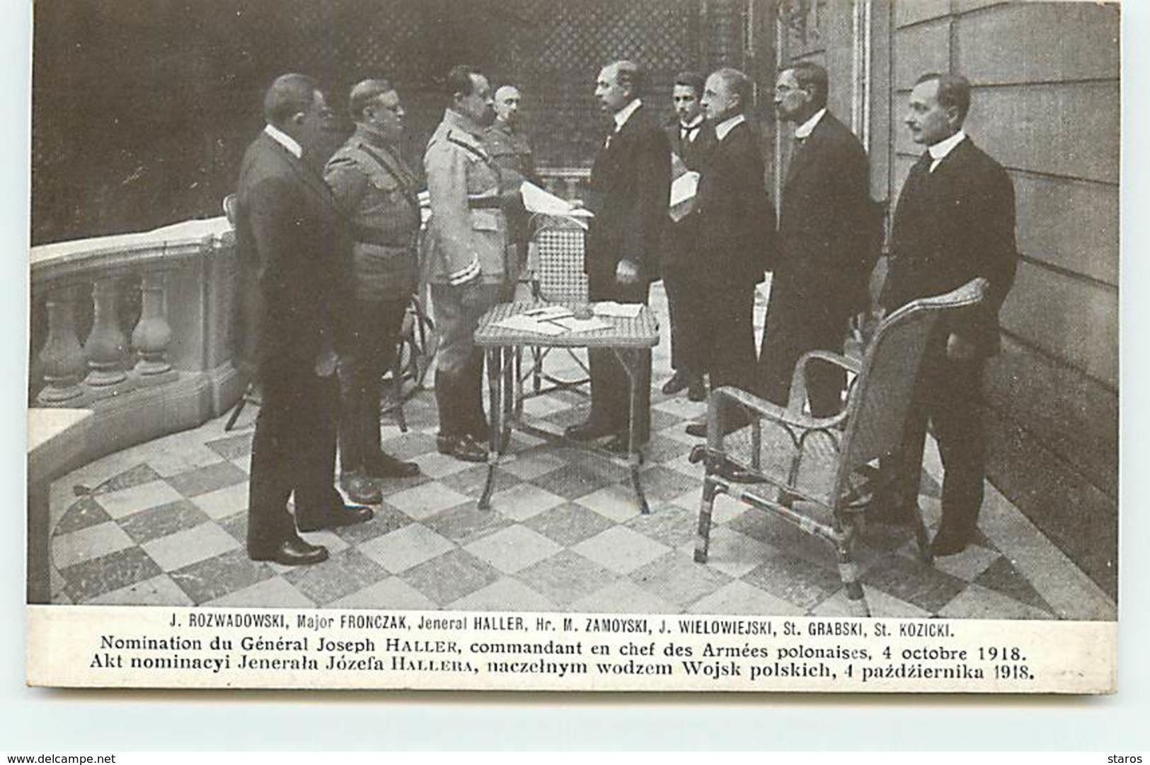 POLOGNE - Nomination Du Général Joseph Haller ... 4 Octobre 1918 - Edition Bureau Polonais Propagande - Lapina - Pologne