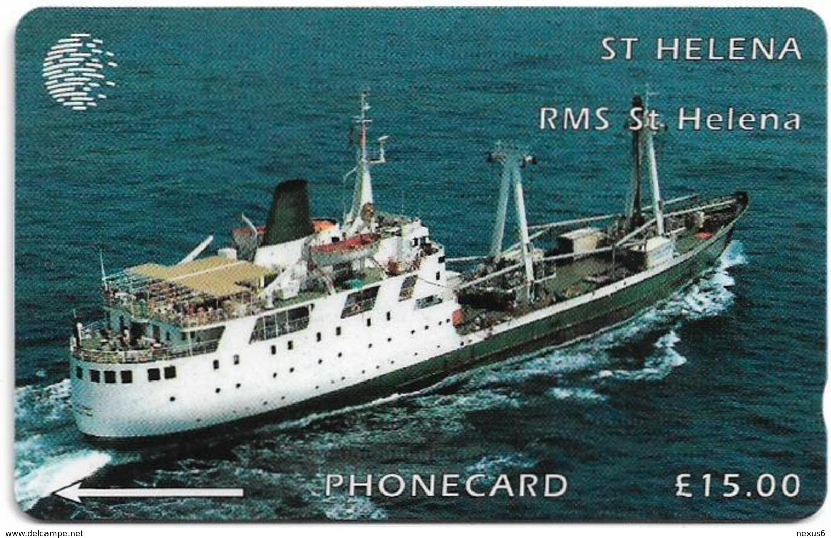 St. Helena - C&W - GPT - Ships - R.M.S. St. Helena (1977-1990) - 5CSHC (Dashed Ø), 1.500ex, Used - Isla Santa Helena