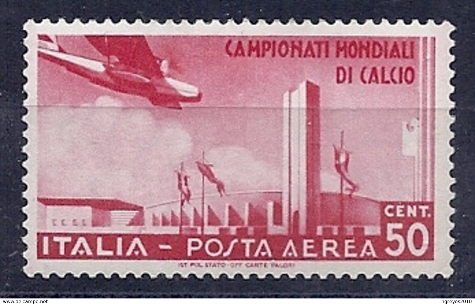 190032416  ITALIA  YVERT    AEREO  Nº  64  */MH - Luftpost