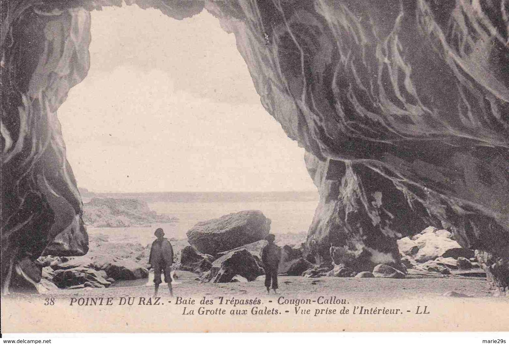 """29 CLEDEN-CAP-SIZUN Baie Des Trépassés """"Cougou-Callou"""" Grotte Des Galets, Vue Prise De L'intérieur - Animée - Cléden-Cap-Sizun"""