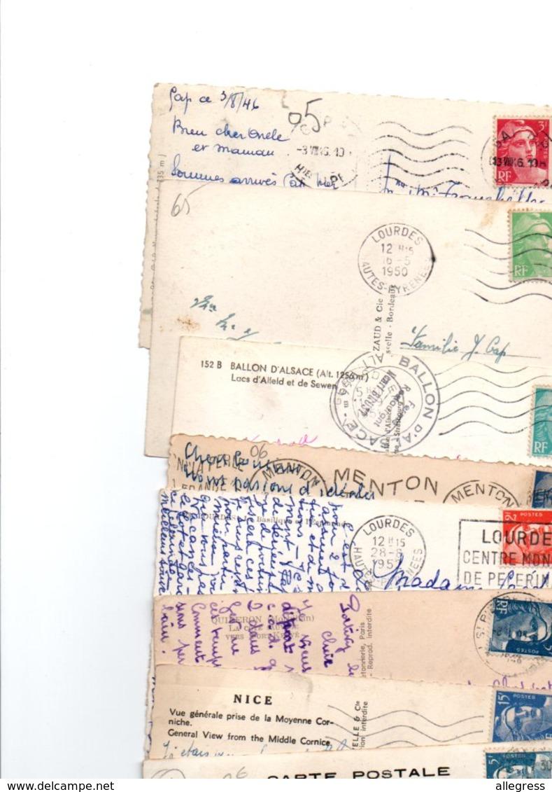 TIMBRE TYPE MARIANNE DE GANDON.......LOT DE 90 SUR CPSM.....VOIR SCAN......LOT 32 - 1945-54 Marianne (Gandon)