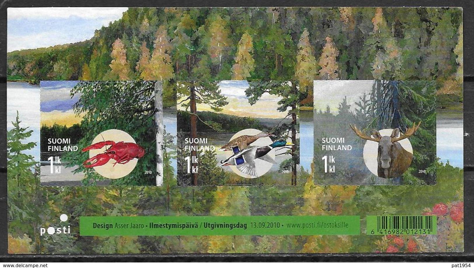 Finlande 2010 Bloc Neuf Avec N°2020/2022 Automne Avec Animaux: écrevisse, Canards Et élan - Finlandia