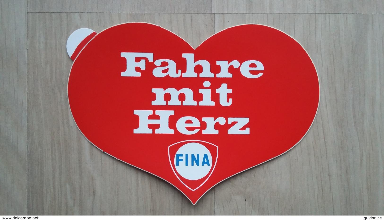 Aufkleber Aus Deutschland Mit Werbung Für Eine Tankstelle (Fina) - Aufkleber