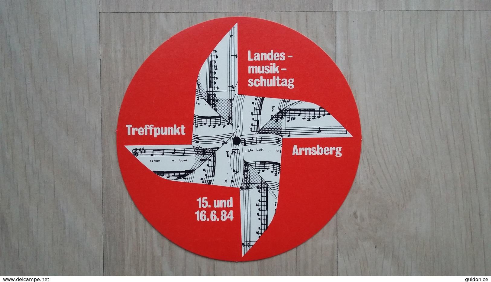 Aufkleber Aus Deutschland Mit Werbung Für Den Landesmusikschultag 1984 - Stickers