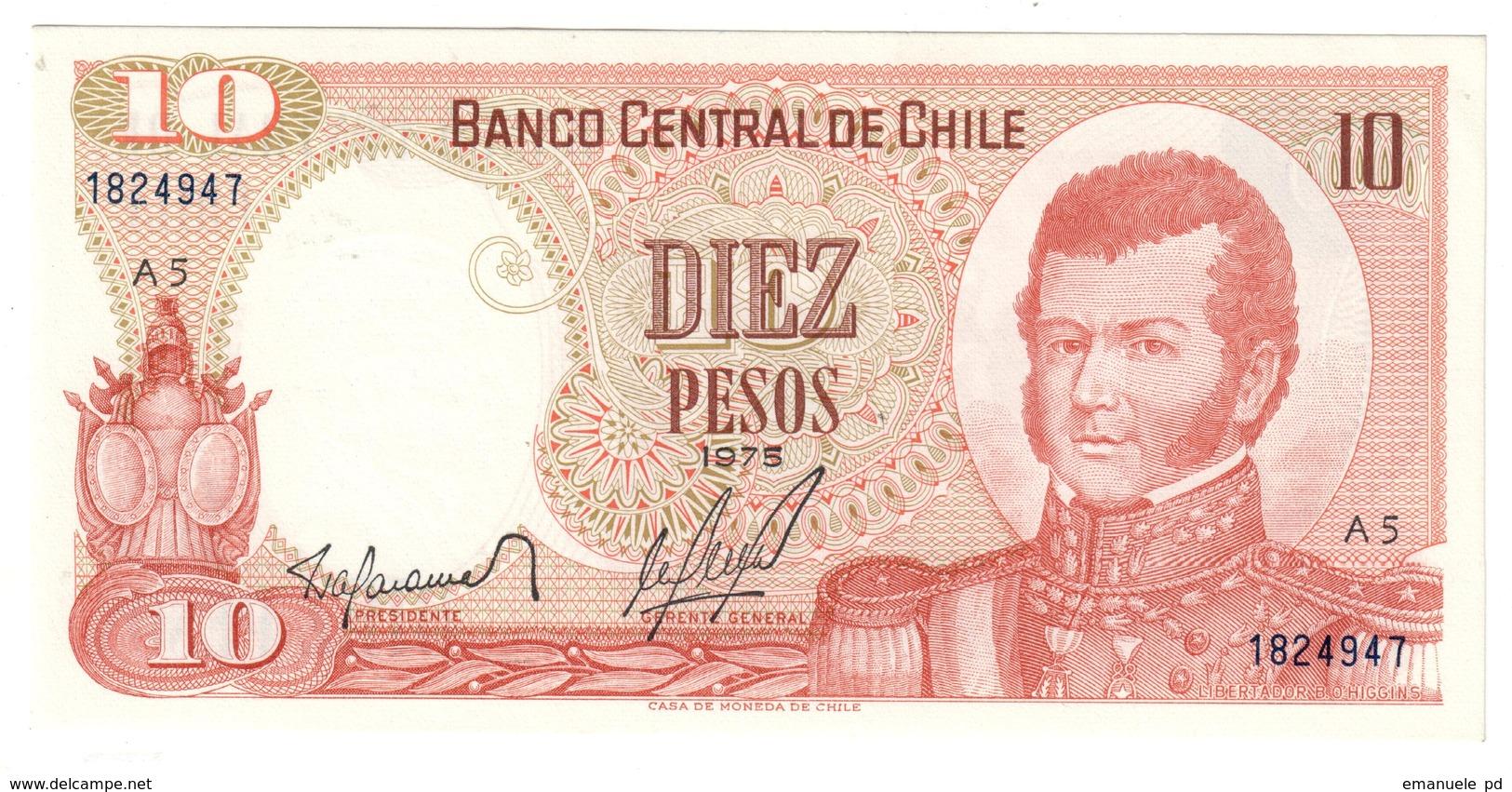 CHILE10ESCUDOS1975P150UNC.CV. - Chili