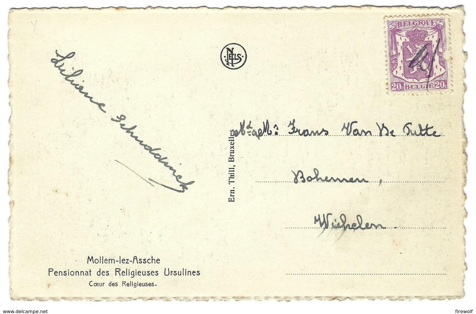 X08 - Mollem-lez-Assche - Pensionnat Des Religieuses Ursulines - Coeur Des Religieuses - Asse