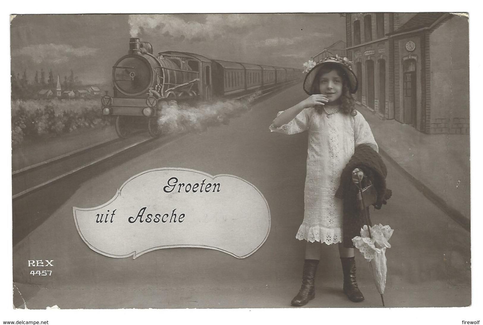 X08 - Assche - Groeten Uit - Trein / Train - Asse
