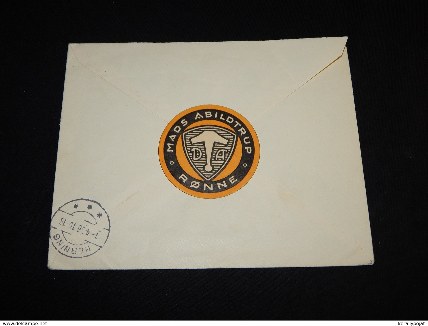 Denmark 1936 Rönne Registered Stationery Envelope__(L-31551) - Postal Stationery