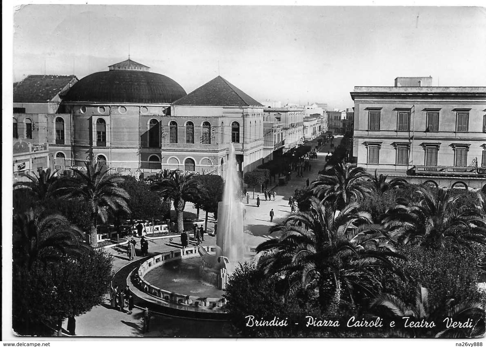 Brindisi - Piazza Cairoli E Teatro Verdi - Scritta Birra Dreher Alla Spina Birreria A Sinistra. - Brindisi