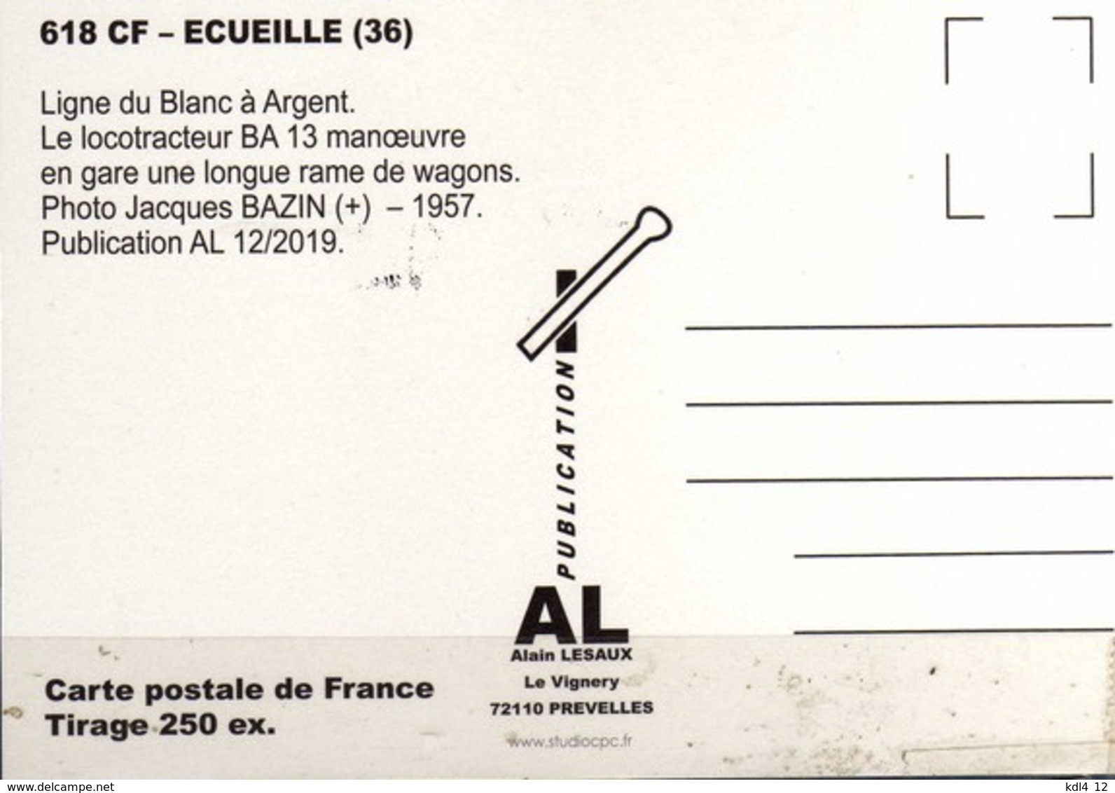 AL 618 - Train - Locotracteur BA 13 - ECUEILLE - Indre - BA - Frankreich