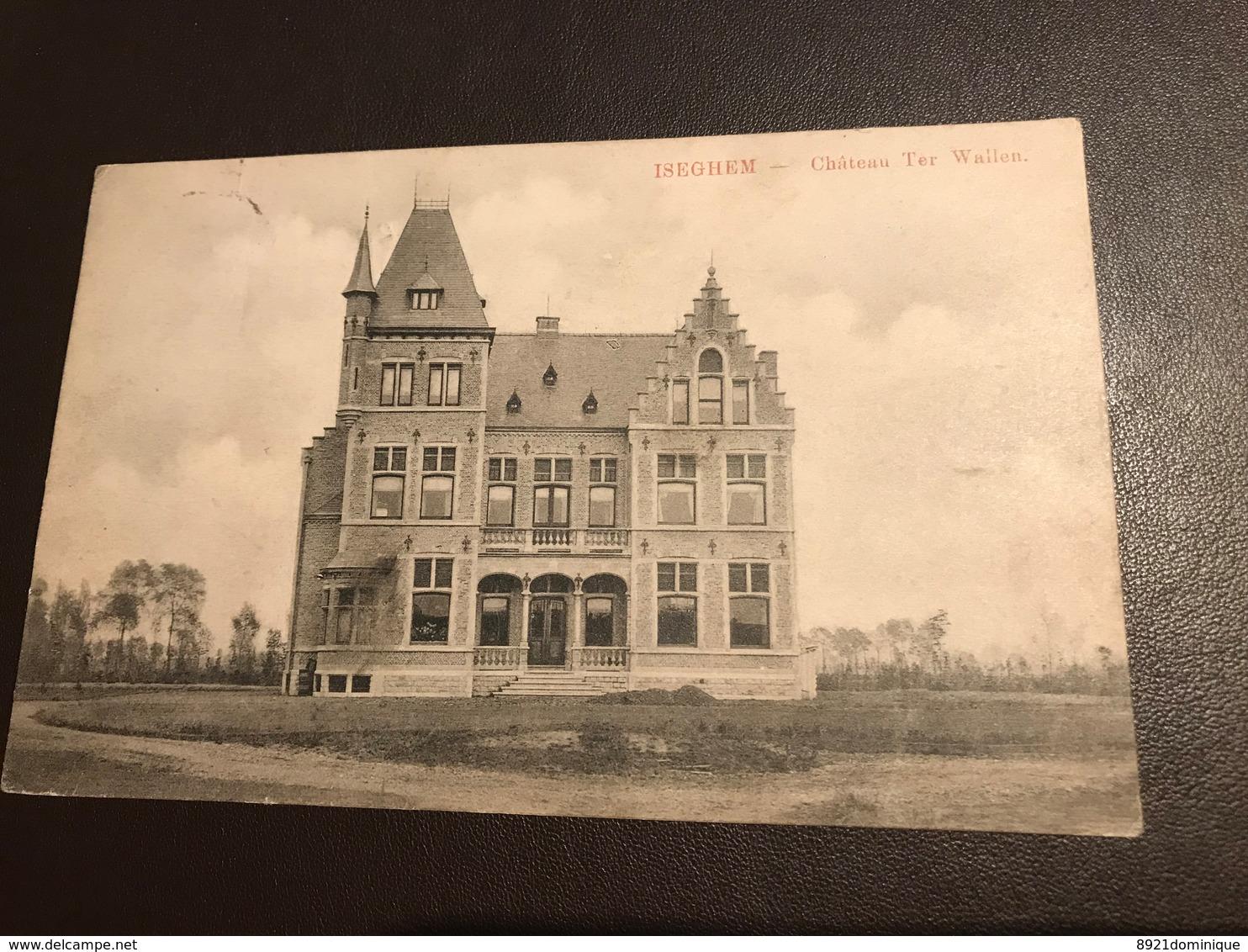 Izegem - Iseghem - Château Ter Wallen - Gelopen 1909 - Izegem