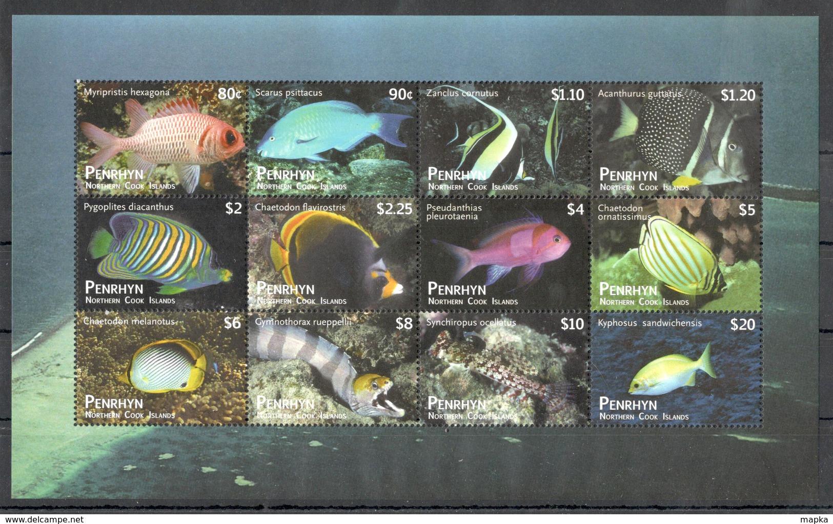 EC224 PENRHYN NORTHERN COOK ISLANDS MARINE LIFE FISH 1SH MICHEL 110 EURO MNH - Meereswelt