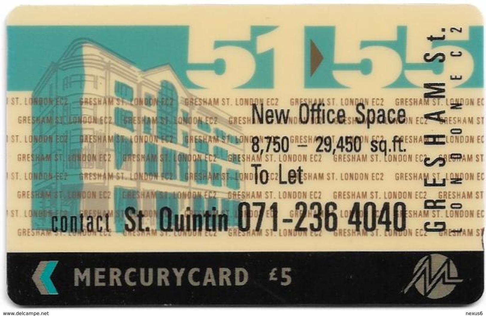 UK (Mercury) - 51-55 Gresham St. - 20MERF - MER130 - 4.610ex, Used - Reino Unido