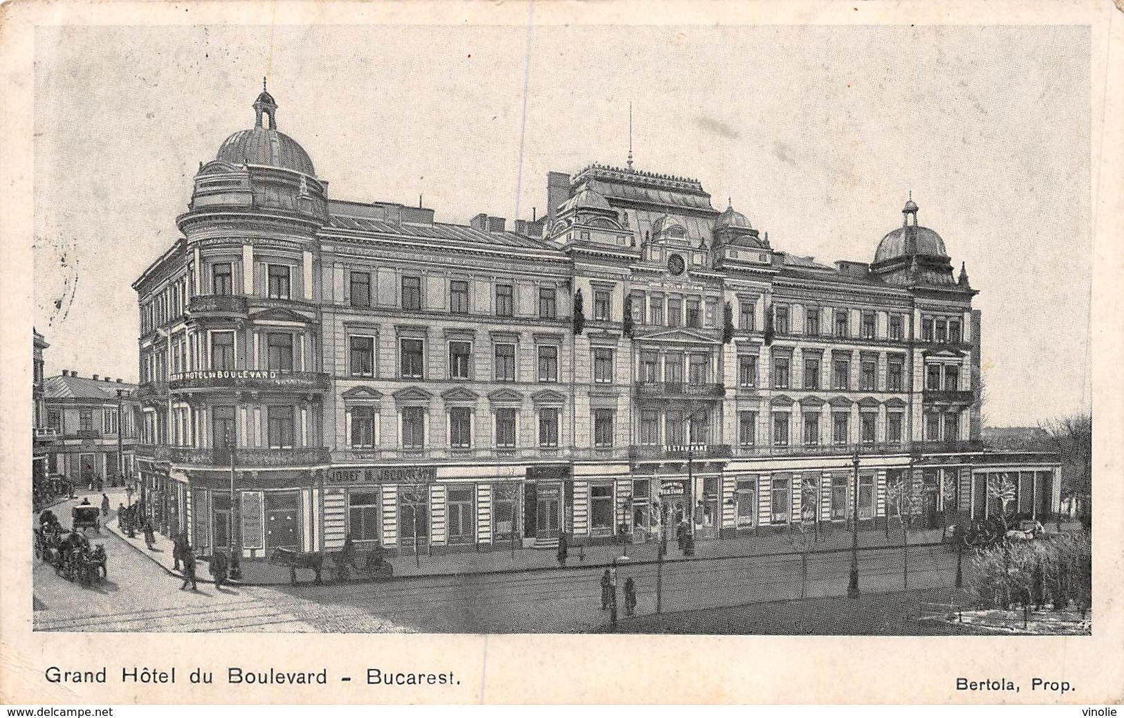 PIE-Z SDV-19-5479 : BUCAREST. GRAND-HOTEL DU BOULEVARD - Rumania