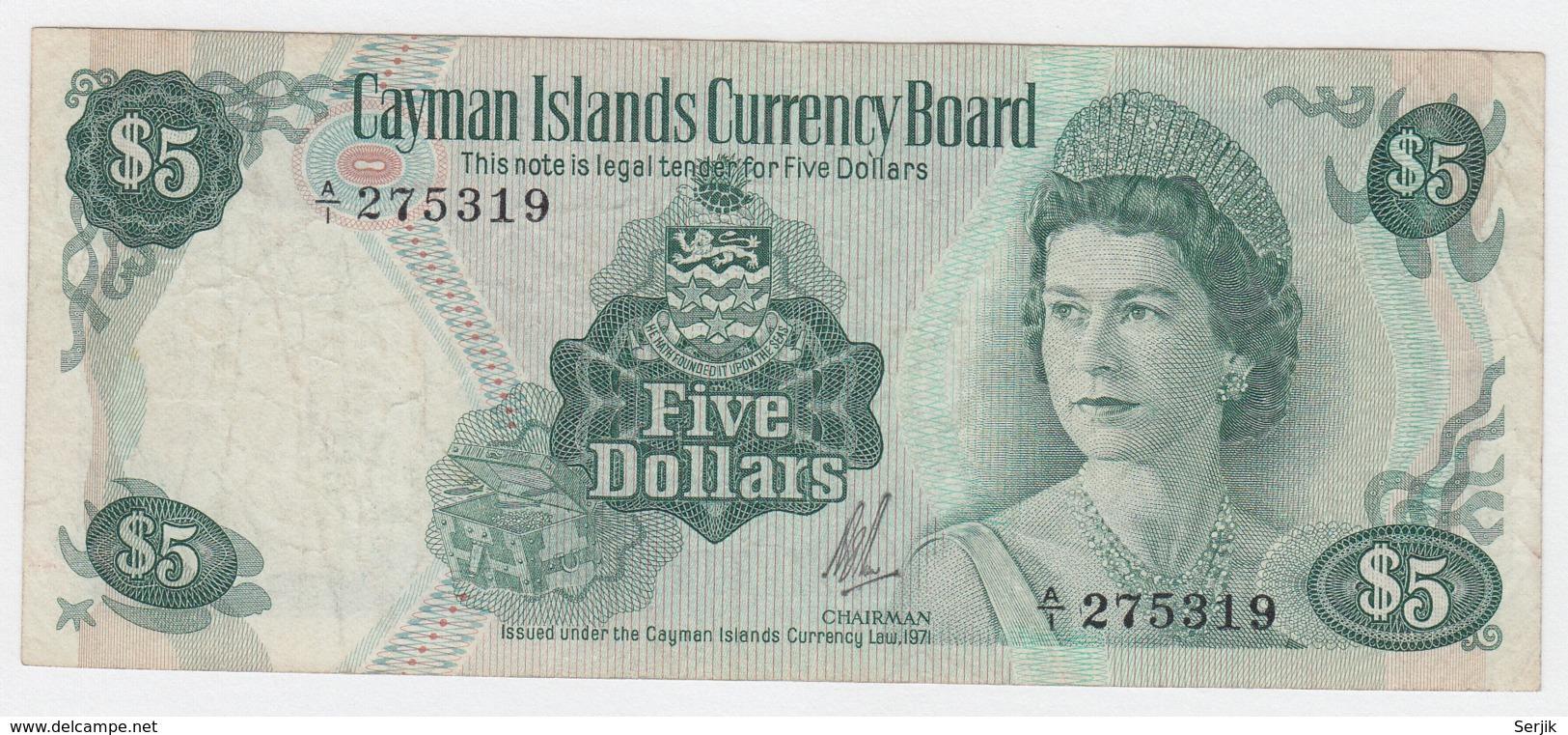 UNC Pick 38c CAYMAN ISLANDS 1 Dollar 2010