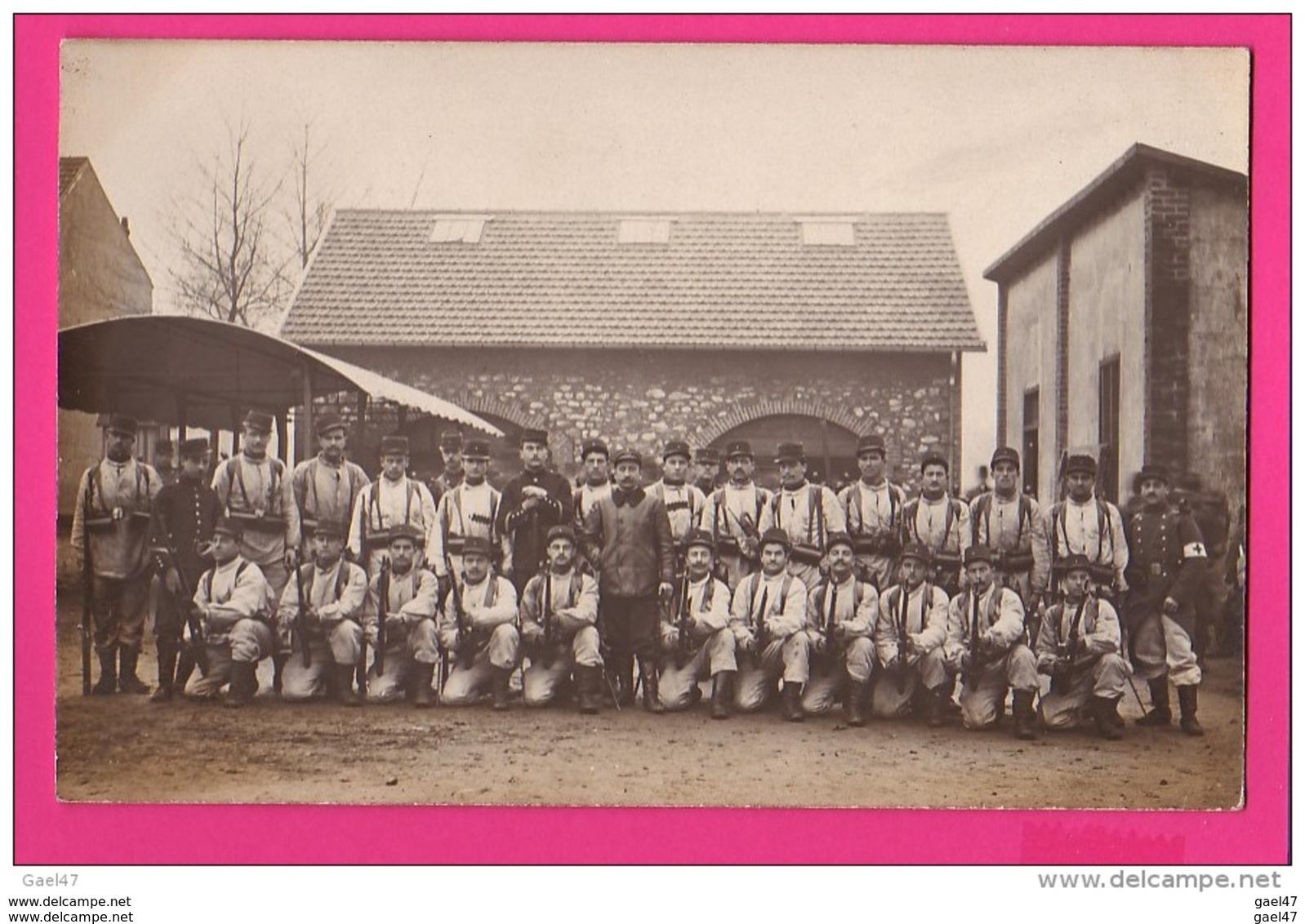 CARTE PHOTO (RÉF : Z06 Guerre 14-18  GRégiment à Identifier - Weltkrieg 1914-18