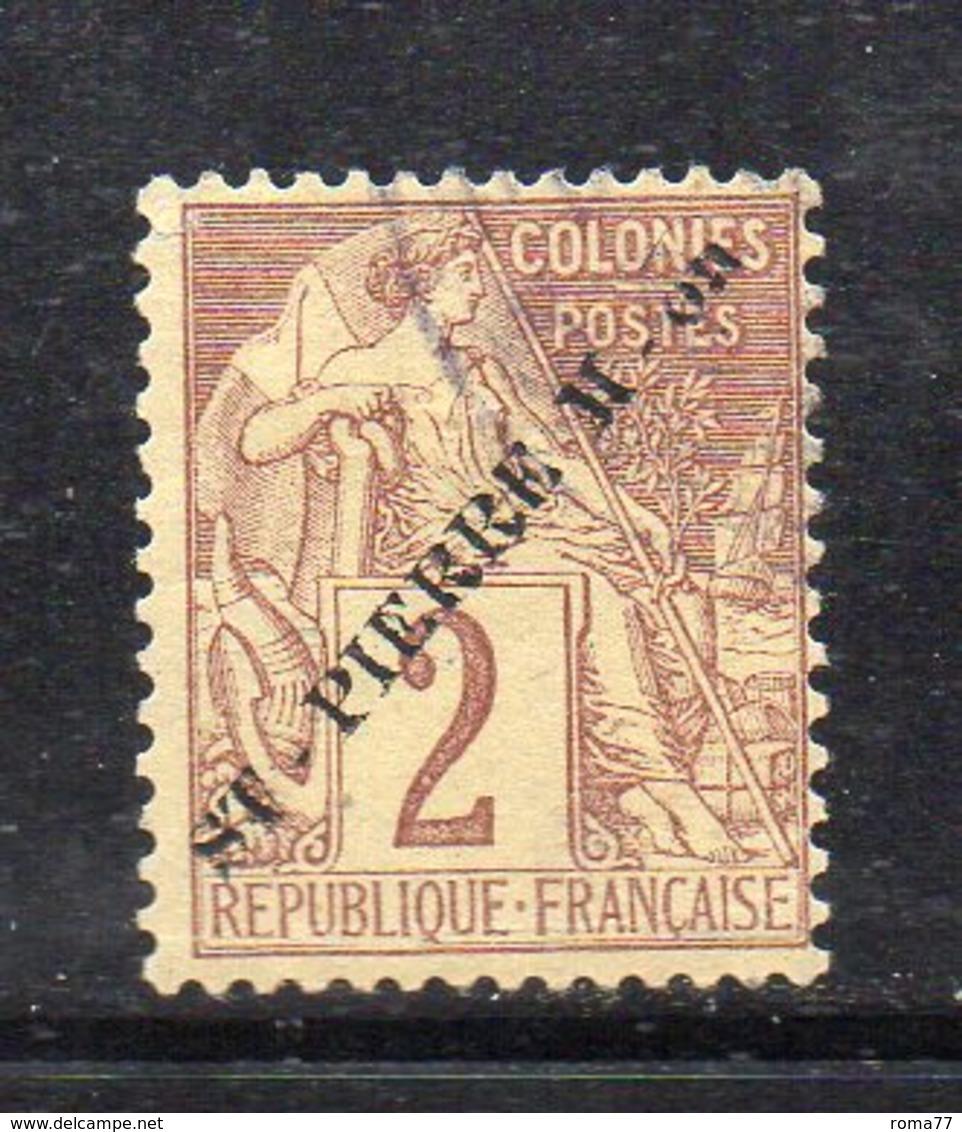 Y1174 - SAINT-PIERRE Et MIQUELON 1891 ,  Yvert N. 21 * Linguelle Forti (2380A). - St.Pierre & Miquelon