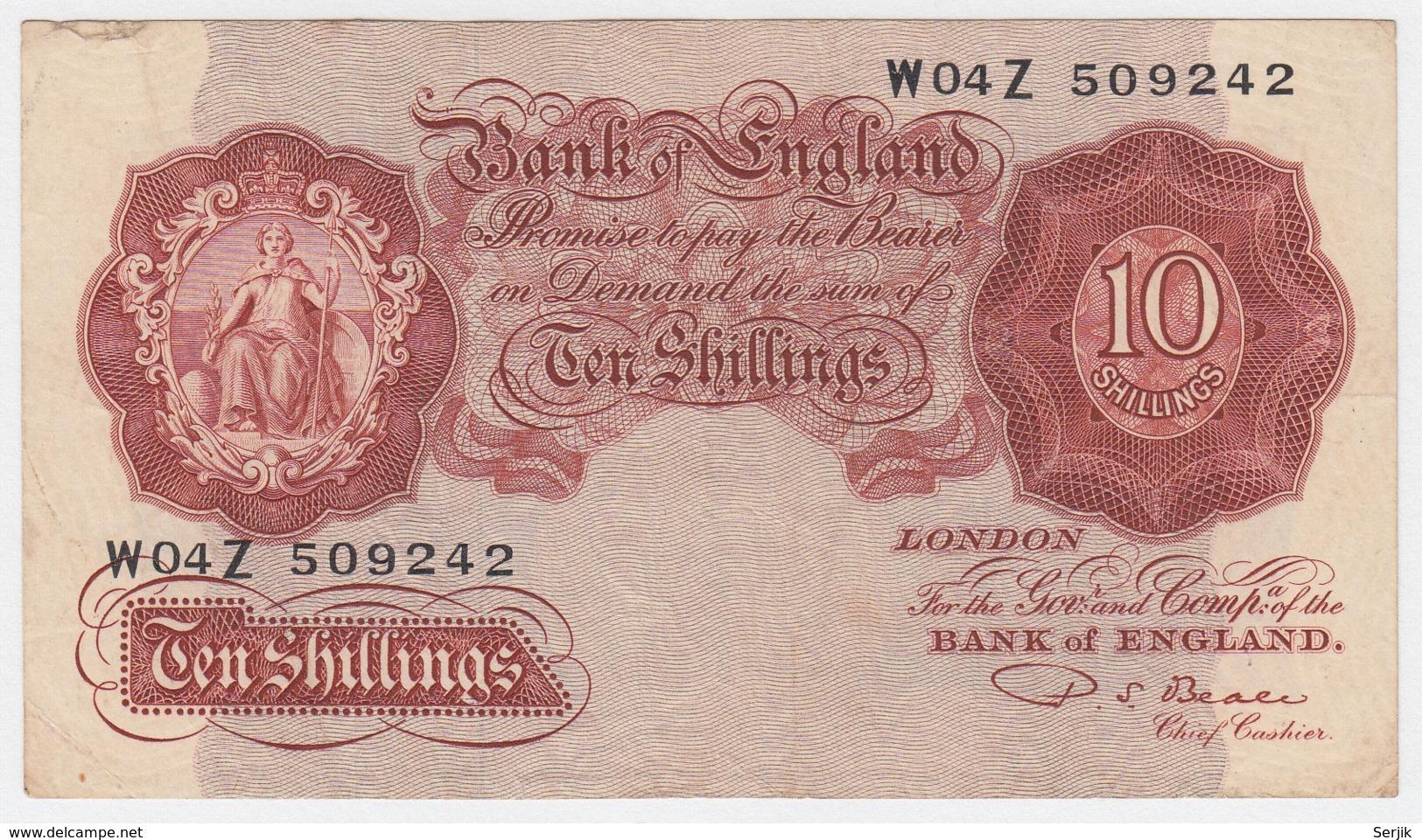 Great Britain 10 Shillings 1949 - 1955 VF Pick 368b  368 B - 10 Schillings