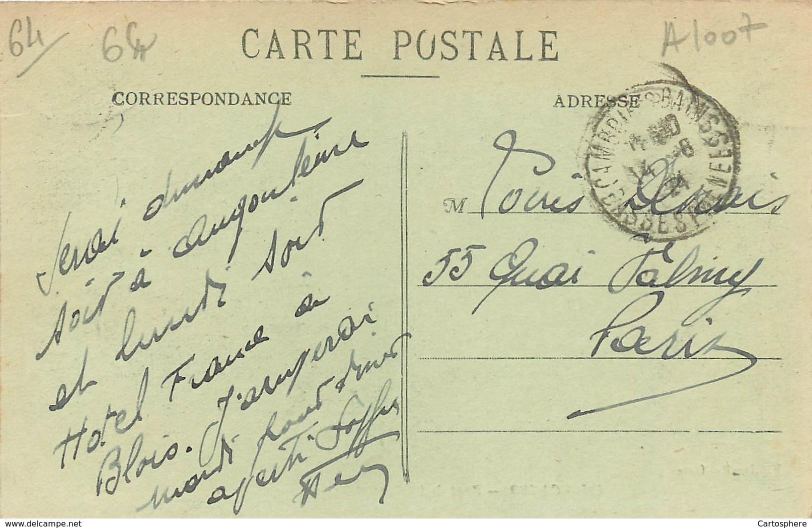 Lot 2 CPA 64 Pyrénées-Atlantiques Cambo-les-Bains Gare Et Bas Cambo Précurseur 1900 + Pont De La Gare Et Basseboure - Cambo-les-Bains