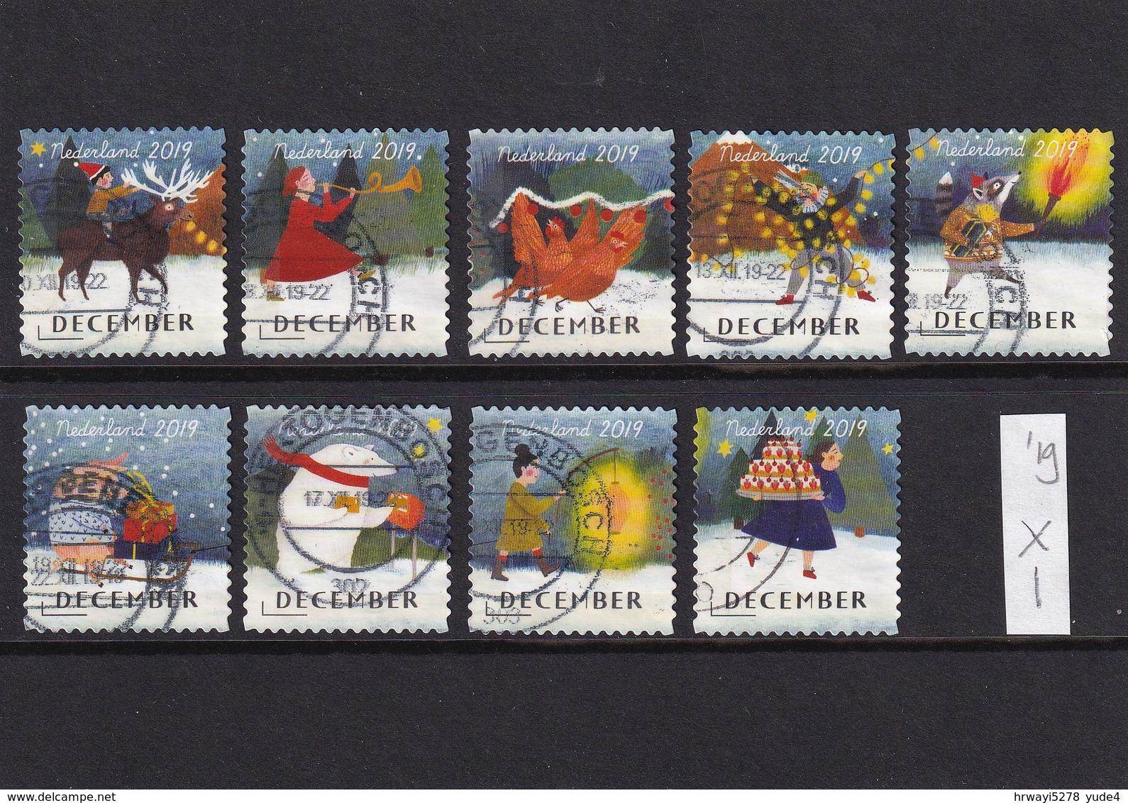 Netherlands 2019, 9 Different Stamps, Vfu - Oblitérés