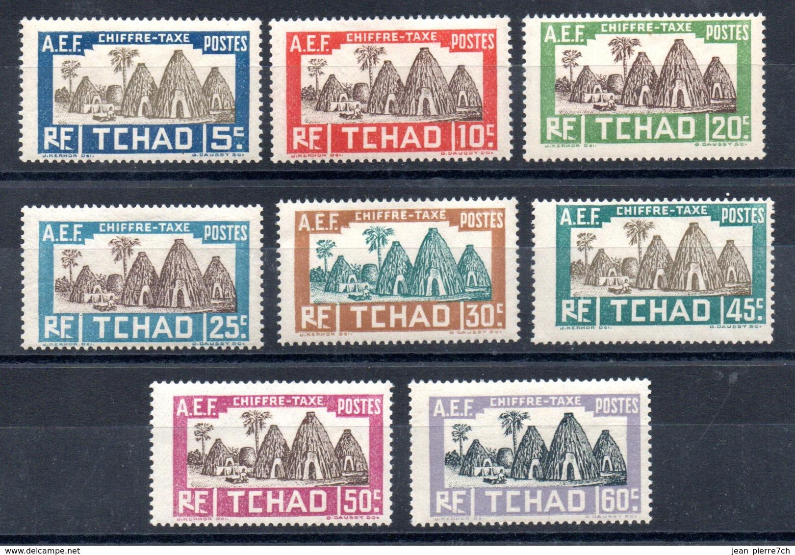 Tchad  Tschad Taxe Y&T T 12** - T 19** - Tschad (1922-1936)