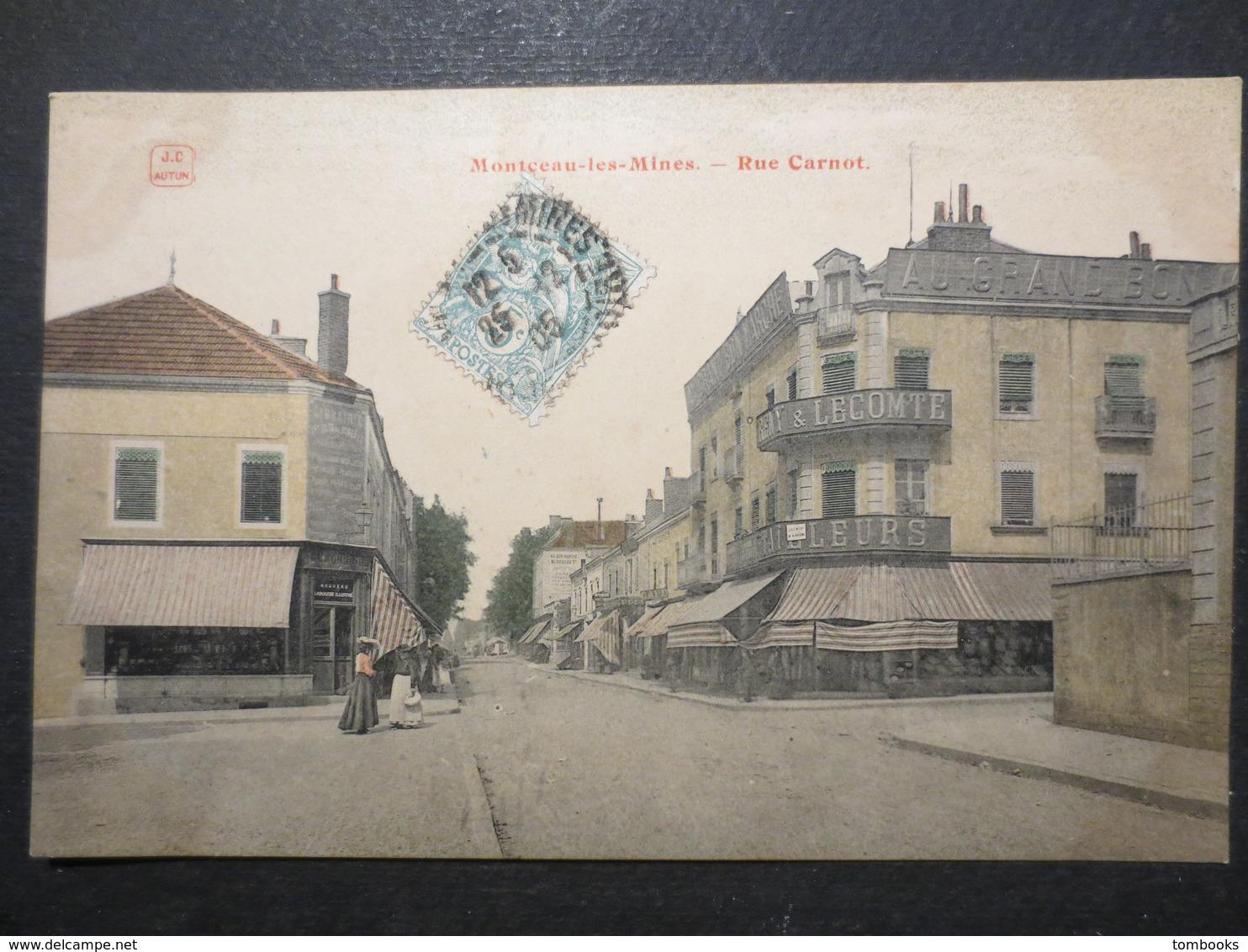 71 - Montceau Les Mines - CPA - Rue Carnot - JC Autun  -  1905 -  B.E - - Montceau Les Mines