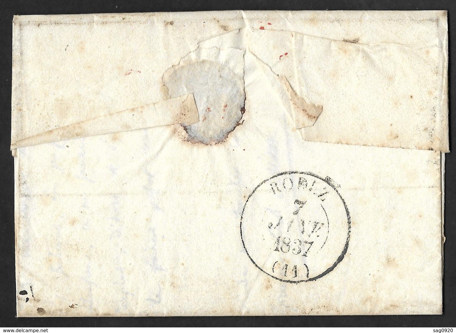 Aveyron.Lettre Avec Cachet Type 13 D'Espalion-Boite Rurale A St Come - Poststempel (Briefe)