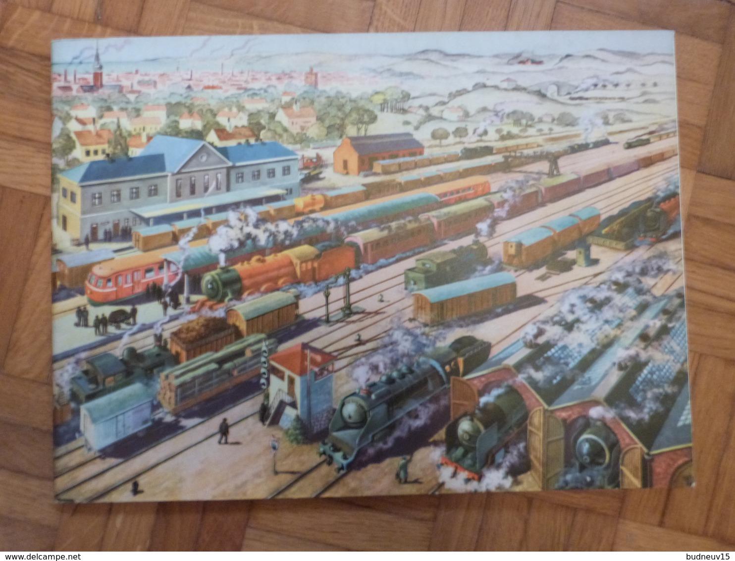 Livret Avec Découpage Train, Wagon, Gare, SD. - Chemin De Fer