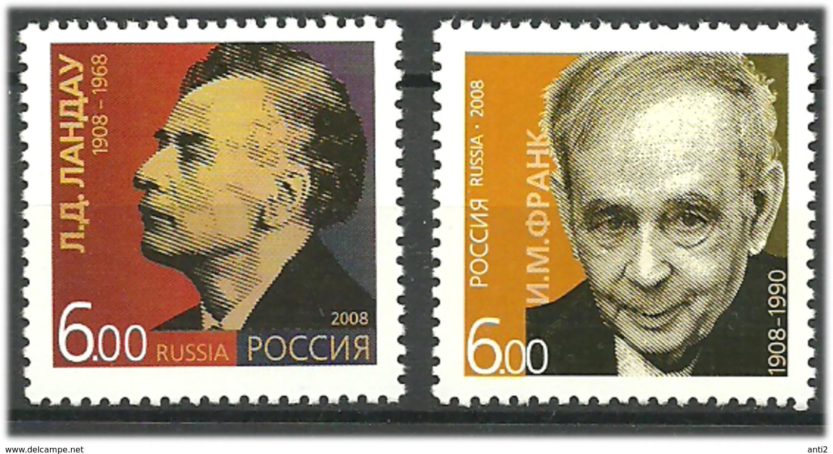 Russia 2008 100th Birthdays Of Nobel Prize Winners. Lew Lindau And Ilja Frank. Mi 1450-1451, MNH(**) - Neufs