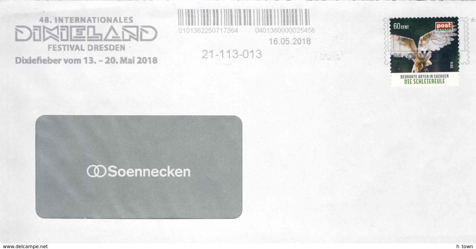 "8279  Dixieland: Flamme De Entreprise Postale Privé, Allemagne 2018 - Jazz Slogan Cancel Of ""postmodern"" Private Post - Musik"
